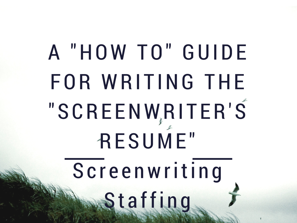 a how to guide for writing the screenwriter s resume by